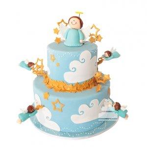 Un pastel con angel