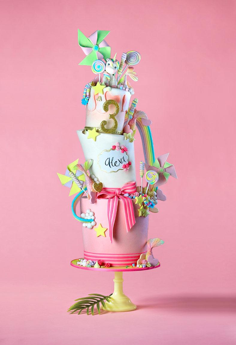 Curso Topsy Turvy Unicorn Cake